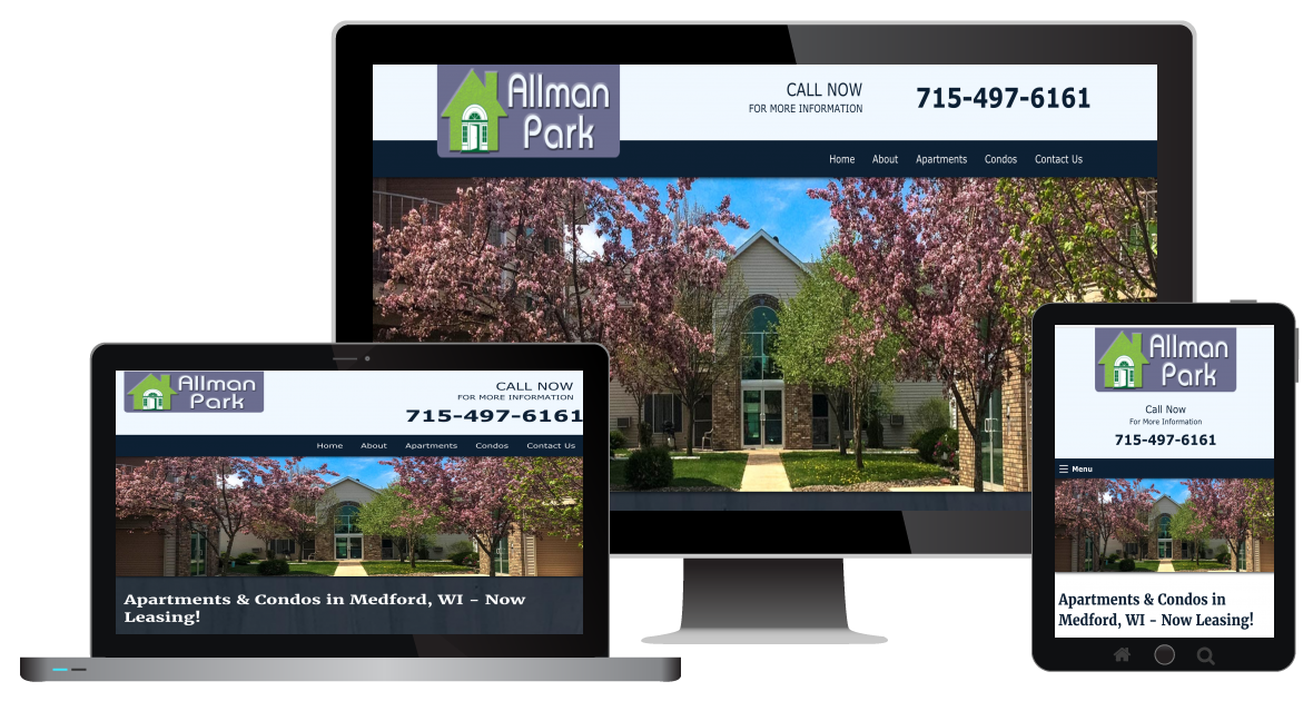 responsive-website-design-for-allman-park-condos-in-medford-wi