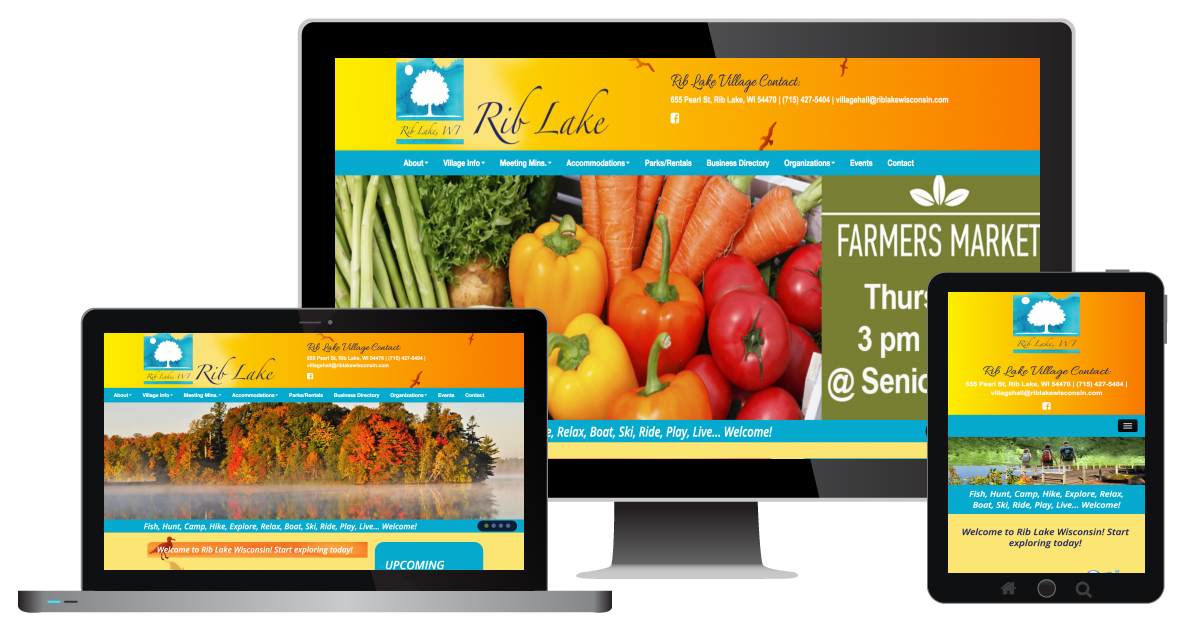 responsive-website-design-for-rib-lake-village-in-wisconsin